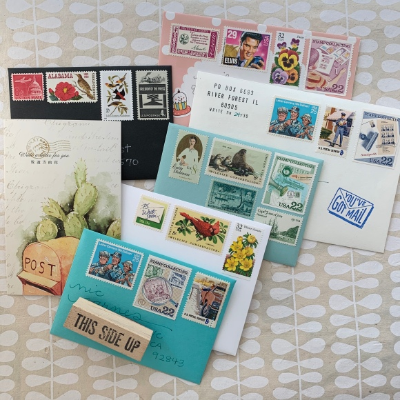 write_on, national card and letter writing month, vintage postage