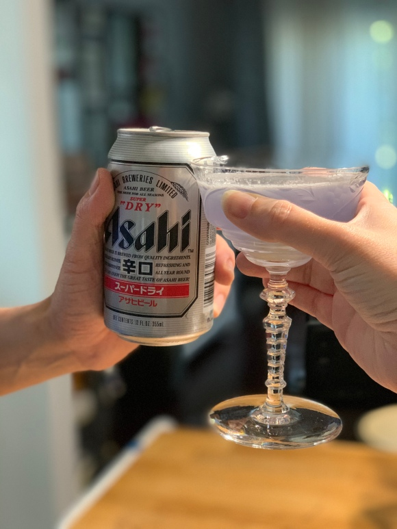 asahi beer and empress cocktail